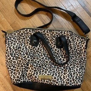 Betsy Johnson leopard crossbody purse